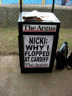 June 5th – Another Argus headline on floppy Nicki