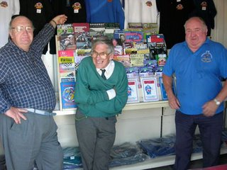 Dave Rattenberry, ICA Crook and John Rich in the warm Buxton track shop